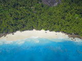 Aerial View of Anse Victorin Beach  Fregate Island  Seychelles  Indian Ocean  Africa