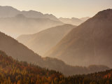 Vrsic Pass in Autumn  Triglav National Park  Julian Alps  Slovenia  Europe