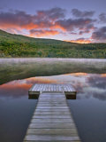 Mollys Falls Pond at Sunset  Vermont  New England  United States of America  North America