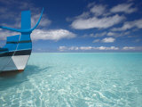 Bow of Boat in Shallow Water  Maldives  Indian Ocean