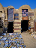 Traditional Pottery and Rug Shop  Tunisia  North Africa  Africa