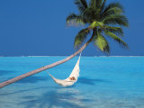 Woman in Hammock  South Male Atoll  Maldives  Indian Ocean