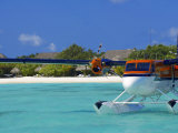 Maldivian Air Taxi Parked in a Resort in Maldives  Indian Ocean