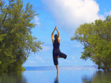 Yoga Meditation  Full Moon Island  Male Atoll  Maldives  Indian Ocean