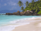 Empty Beach  Seychelles  Indian Ocean  Africa