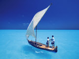 Sailing with Traditional Dhoni  North Male Atoll  Maldives  Indian Ocean