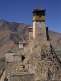 Exterior of Tower at Yumbu Lhakang  the Oldest Dwelling in Tibet  Central Valley of Tibet  China