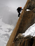 Mountaineer  Climber  Mont Blanc Range  French Alps  France  Europe