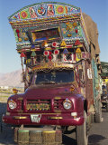 Decorated Truck  Typical of Those on the Karakoram Highway in Pakistan