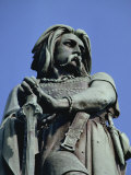 Close-Up of Statue of Vercingetorix  at Alise-Ste-Marie  in Bourgogne  France  Europe