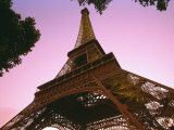 Eiffel Tower at Dusk  Paris  France  Europe