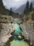 Soca River  Soca Valley  Triglav National Park  Julian Alps  Slovenia  Europe