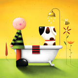 L'heure du bain Giclée premium par Jo Parry