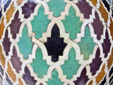 Tiled Mosaic Inside Bou Inania Medersa  Fez  Morocco  North Africa  Africa