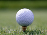 Golf Ball Sitting Oin a Tee