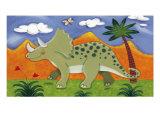 Timmy le tricératops Giclée premium par Sophie Harding