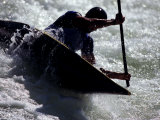Silhouette of Kayaker in Action  Sydney  Austrailia