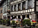 Restaurant  Timbered Buildings  La Petite France  Strasbourg  Alsace  France  Europe