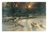 La journée d'hiver raccourcie Giclée premium par Joseph Farquharson