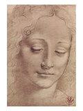 Testa Di Giovinetta Giclée premium par Leonardo Da Vinci