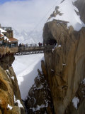Viewing Platform and Walkway  Aiguille Du Midi  Chamonix-Mont-Blanc  French Alps  France  Europe