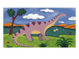 Dippy le diplodocus Giclée premium par Sophie Harding