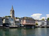 Riverside View of the Old Town  Zurich  Switzerland  Europe