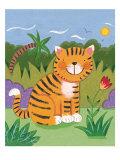 Baby Tiger Giclée premium par Sophie Harding