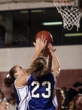 Female High School Basketball Players in Action During a Game