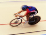 Blurred Action of Cyclist on the Track