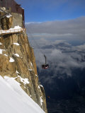 Cable Car Approaching Aiguille Du Midi Summit  Chamonix-Mont-Blanc  French Alps  France  Europe