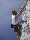 Mature Male Rock Climber  New Paltz  New York  USA