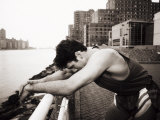 Male Runner Exhausted after Training Run  New York  New York  USA