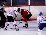 Ice Hockey Face Off  Torronto  Ontario  Canada