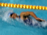 Action of Female Freestyle Swimmer  Athens  Greece