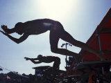 Start of Men's Swim Race  Santa Clara   California  USA