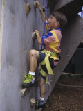 Male Child Wall Climbing Indoors