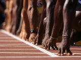 Detail of Hands at the Start of 100M Race