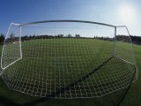 View of Soccer Field Through Goal