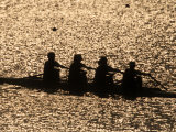 Silhouette of Women's Fours Rowing Team  Atlanta  Georgia  USA