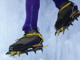 Detail of Ice Climbing Boots in Action