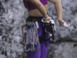 Close Up of Rock Climbing Equipment on a Female Climber  New York  USA