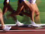 Detail of Blurred Action of Legs in Womens Race