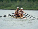 Men's Pairs Rowing Team in Action  USA