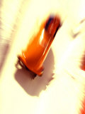 Blurred Action of 2 Man Bobsled Team  Torino  Italy