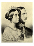 Queen Victoria and Prince Albert  Portraits in Profile
