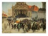 Die Aufbahrung der Märzgefallenen (Victims of the March Revolution in Berlin Lying in State)