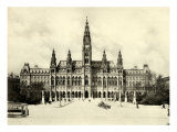 The Rathaus (Town Hall) in Vienna  at the turn of the century