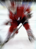 Zoom Explosion View of Ice Hockey Player