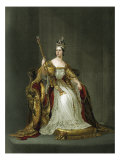 Queen Victoria of England  portrait of Her Majesty in her coronation robes in 183